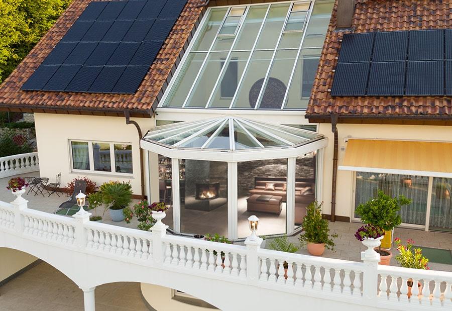 Wohnwintergärten von Topsun aus Bremen. Abgerundet